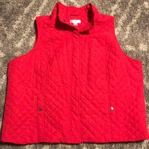 CJ Banks Snap Front Vest Size 3X